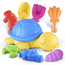 8pcs/set Children Summer Play Sand and Water Toys Cartoon Animals Pool Shovel Beach Toys(China)