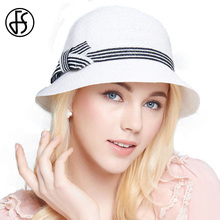Summer Linen Hats For Women Elegant 2017 White Beach Straw Hats With Bowknot Curl Brim Floppy Fashion Visor Sun Cap Femme