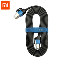 XIaomi RJ45 Cable Ethernet Internet Cat6 LAN WAN Wire 1000Mbps 24K Gold plated Crystal head plug for Xiaomi TV 1 2 2S 3 TV BOX 3(China)