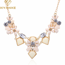 New Arrival Resin Fashion Colorful Cute Charm Gem Flower Choker Necklaces & Pendants Fashion Jewelry Woman Gift Summer style 749(China)