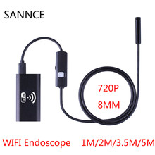 HD 720P 1m 2m 3.5m 5m Wifi Endoscope Camera Android Iphone Borescope Waterproof Camera Endoscopic Android iOS Boroscope Camera(China)
