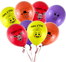 100pcs/lot Five Nights At Freddy's FNAF Party Balloon 4 colors for selection 4 kinds ballons mixed figure toys