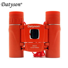 Datyson 8x21 Compact Pocket Binoculars Folding Full Coated HD Mini Telescope Roof Prism BAK4 FMC Optics Hunting Sports(China)