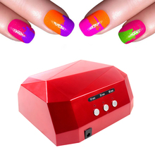 36W UV LED Nail Dryer 6 Colors Diamond Shaped UV Lamp LED Nail Lamp LED+CCFL Bulb Curing for UV gel Nail Polish Nail Art Tools