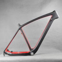 "29"" Full Carbon Red Painting MTB Frame Moutain Bike FM056 BB30 UD Matte 21"" Disc Brake(China)"