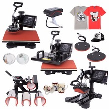 "(Ship from US) 8 in 1 Digital Multifunction Heat Press Machine Transfer Sublimation T-Shirt Mug Hat Plate Cap Mouse Pad 15""x12"""
