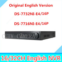 Buy IN stock original English NVR kit DS-7716NI-E4/16P NVR DS-7732NI-E4/16P 4SATA 16 POE interfaces POE NVR for $370.00 in AliExpress store