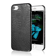 USLION Luxury Crocodile Pattern Leather Phone Case for iPhone 7 Ultrathin PU Leather Back Cover Cases For iphone7 6 6s Plus