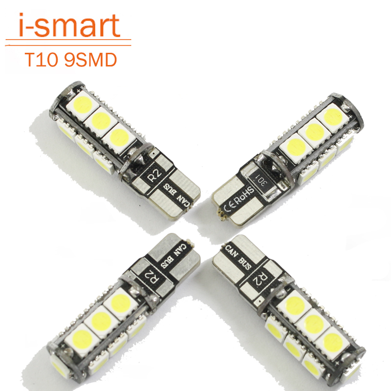 Universal T10 LED reverse light W5W marker lamps 9 5050 SMD automotive led bulb 12V canbus xenon halogen car dashboard<br><br>Aliexpress