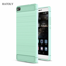 For Huawei p8 Lite Case Anti-knock Soft TPU Brushed Rugger Silicon Mobile Phone Cases Cover For Huawei Ascend P8 Lite Capa (<