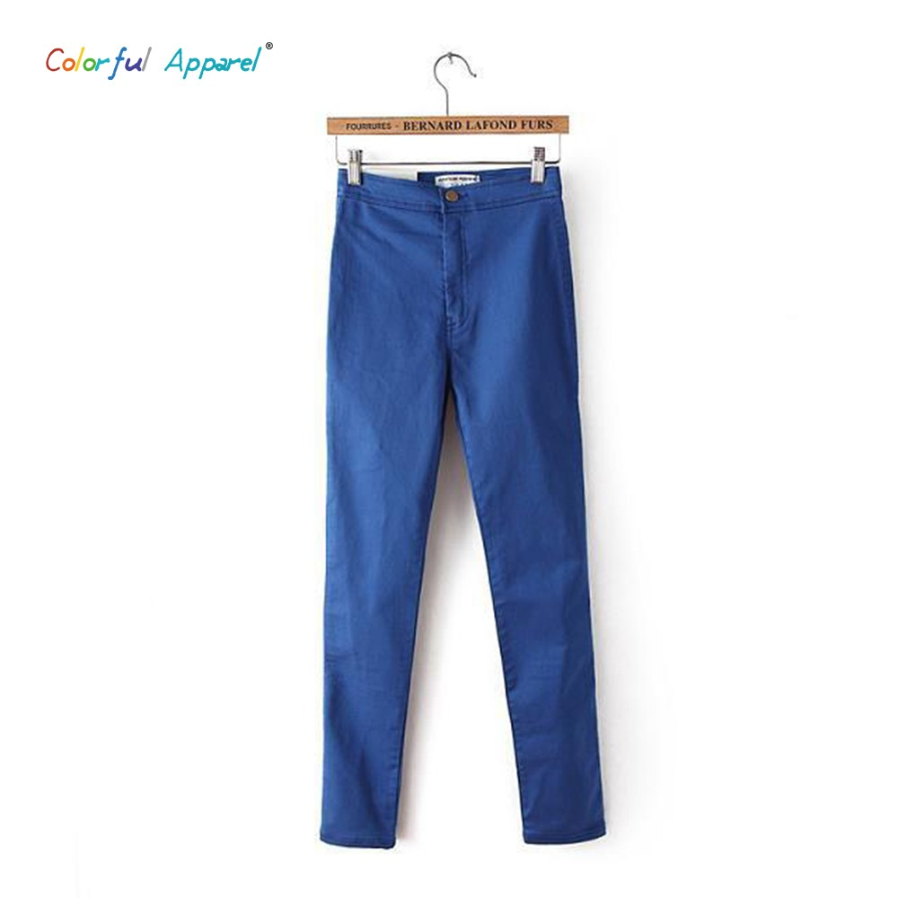 Colorful Apparel Pencil Jeans For Women  High Waist  Jeans Skinny Trousers For Women Denim Stretch Slimming Pants Lady CA05AОдежда и ак�е��уары<br><br><br>Aliexpress