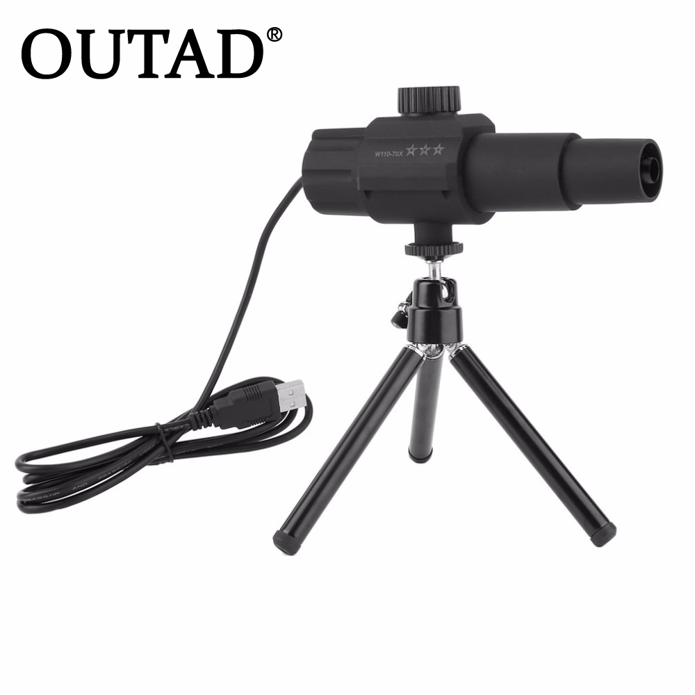 OUTAD 2 Megapixel 70 Times Zooming Lens Digital USB Telescope For Animal Observation free Shipping<br>