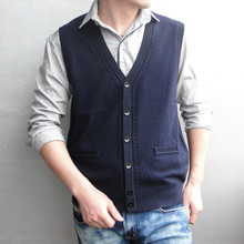 Free shipping Men's V-neck cashmere wool cardigan sweater business knitted sweaters