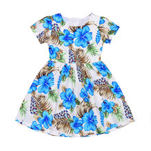 Kids Baby Girls Cotton Flower Party Prom Princess Pageant Wedding Fancy Dress kids dresses for girls 2017 New Kid Girl clothing(China)