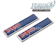 2PCS Australian National Flag Car Styling Pair Metal Sticker For Car Exterior Decoration Size 58mm*14mm