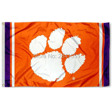 Clemson Tigers Jersey Large Nation American Outdoor Indoor Hockey Baseball College Flag 3X5 Custom USA Any Team Flag(China)