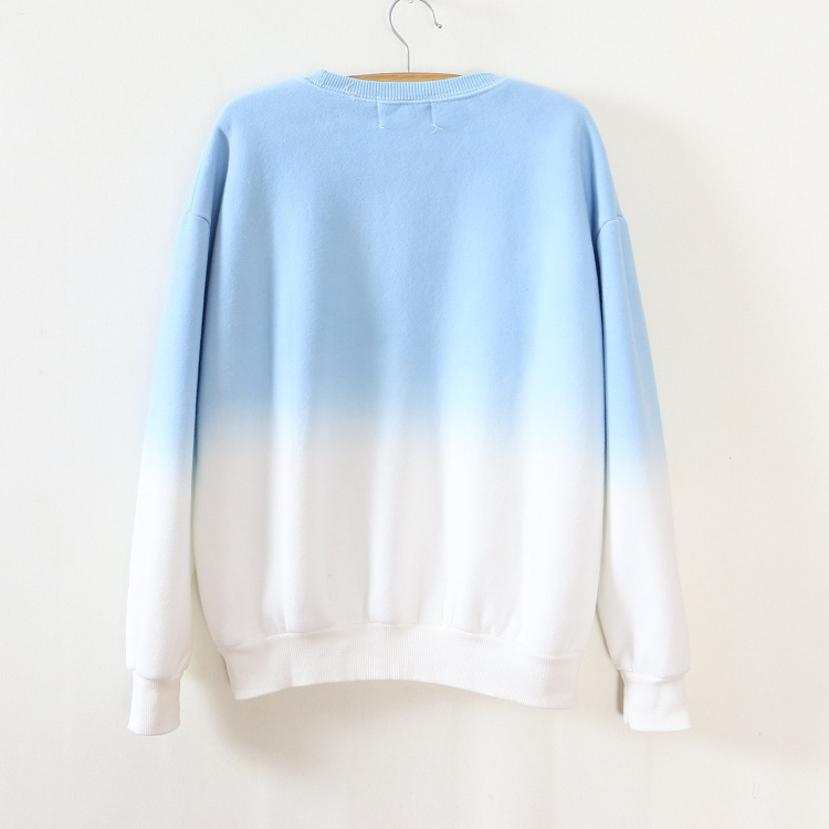 ArtSu Autumn Winter Thicken Fleece Gradient Color Hoodies Sweatshirt Women Hoody Tracksuit Cute Sweatshirts Clothing ASHO50037 9