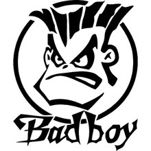 15CM*17.8CM Humor Bad Boy Vinyl Sticker Decal Car Bumper Car Styling Sticker Motorcycle Decal Accessories Black Sliver C8-1059
