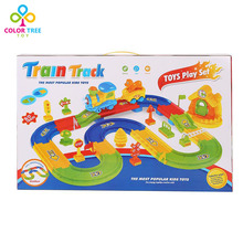 Electric Train Track Children's Music Tinker Car Simulation Car Carton Game(China)