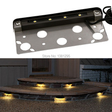 12PCS 12V Low voltage Outdoor Waterproof LED Deck Step Stair lights Garden Wall Patio Accent light Design Landscape Lighting Kit(China)