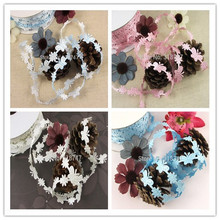1.3cm 4 colors for choose Cute Butterfly And Flower Ribbon Lace Trim 2y/lot D040051007