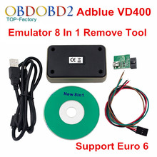 Adblue Emulator 8 in 1 Support Euro 6 Adblue 8 in 1 With Programing Adapter Truck Adblue Emulator With NOX Sensor Remove Tool