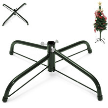 36*19*12.5 Christmas Tree Stand Green Metal Holder Base Cast Iron Stand 4 Feets Decoration NOV10(China)