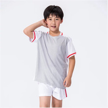 Adsmoney boy stripe short-sleeved football sports suit summer training uniforms children's clothing sets soccer jerseys - Shop3044004 Store store