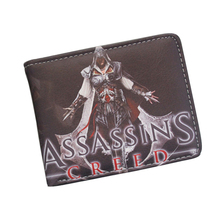 Cool Game Wallet Assassin's Creed Master Assassin Altair Wallet For Young Boy Girl Student Leather Short Money Bag Wallet Purses(China)