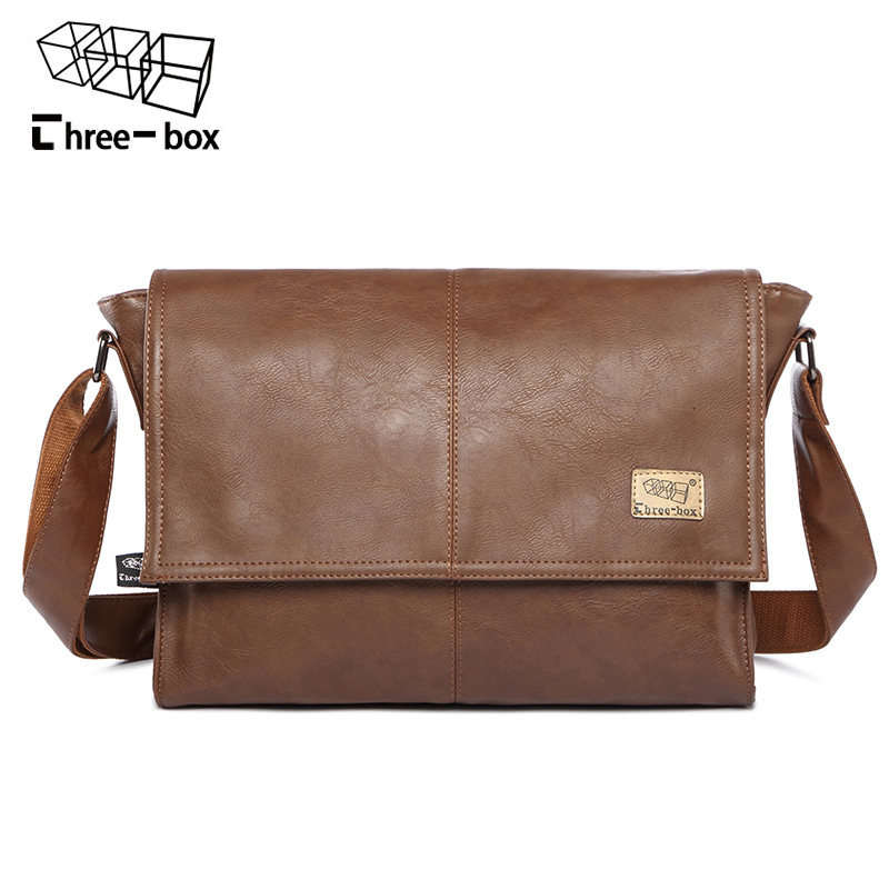 Three-box Fashion New Mans Leather Large Capacity Casual Flap Shoulder Bag Vintage Messenger Bag Brand Crossbody Bags Bolsas<br>