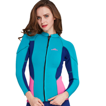 C167 New product Keep warm Winter swimsuit surfing diving suit snorkeling suit 2mm female coat Three color options(China)