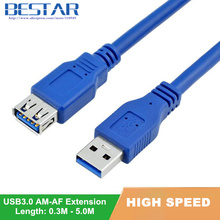 USB 3.0 A Male AM to USB 3.0 A Female AF USB3.0 Extension Cable 0.3m 0.6m 1m 1.5m 1.8m 3m 5m 1ft 2ft 3ft 5ft 6ft 10ft 3 5 Meters