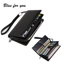 2016 New Fashion Men Wallets Casual Wallet Men Purse Clutch Bag Brand Leather Long Wallet Design Hand Bags For Men Purse