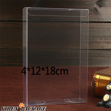 10 pcs/lot4*12*18cm plastic clear box / gifts & crafts / present boxes / PVC / macaron packaging /case / display