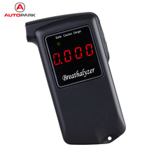 New Prefessional Digital Breath Alcohol Tester LCD Parking Detector Gadget with Backlight Breathalyzer Driving Essentials AT-858