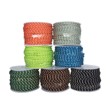 2.5mm 3 strand Reflective Paracord parachute Tent wind rope multifunctional Bold fixed rope clothesline Multipurpose rope 50m(China)
