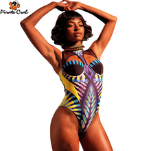 Sexy Lace One pieces Swimsuits Bathing Suits Women High Cut Monokini Swim Suits Lace Vintage Printed Swimsuit Trikinis