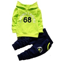 Children's Sweater Autumn Baby Clothing Sets Children Boys Girls Clothes Fashion Hooded Sweatshirt T-shirt & Pants 2 Unids Suits(China)