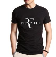 Men Fashion RF Perfect Letter Printing T-shirt Roger Federer Short Sleeve O-Neck T shirt Homme HipHop Streetwear Tops Camisetas(China)