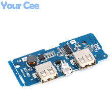 2 pcs Dual Micro USB 3.7v to 5V 2A Mobile Power Bank DIY 18650 Lithium Battery Charger PCB Board Boost Step Up Module With Led