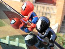Boy Spiderman Figure Kids Spider Man Climbing Window Sucker Superhero Doll Car Avenger Party Home Decoration Action Figure