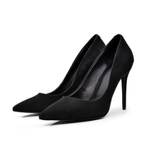 womens high heels shoes 2016 nude pumps black pumps designer shoes women luxury Thin Heels Pointed Toe Sheepskin Spring/Autumn