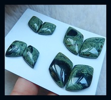 SALE 1Set Carved Natural Stone Ocean Jasper Cabochons,22*12*4mm,14*8*3mm,13.9g jewelry accessories