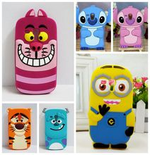 Hot sales! 3D Minions Phone Silicone soft Case Cover for Samsung Galaxy S3 Mini s3mini i8190 8190 Cases Gel Shell