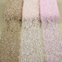 4 yards/lot 54mm-60mm Elastic Stretchlace fabric DIY headband sewing/garment accessories(China)