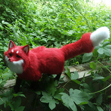 new creative simulation Fox Naruto toy handicraft lifelike walking firefox doll gift about 55x23cm