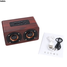 New Wooden Speaker bluetooth sound system Portatil speaker Amplifier music center Subwoofer notebook Speaker for Computer phone
