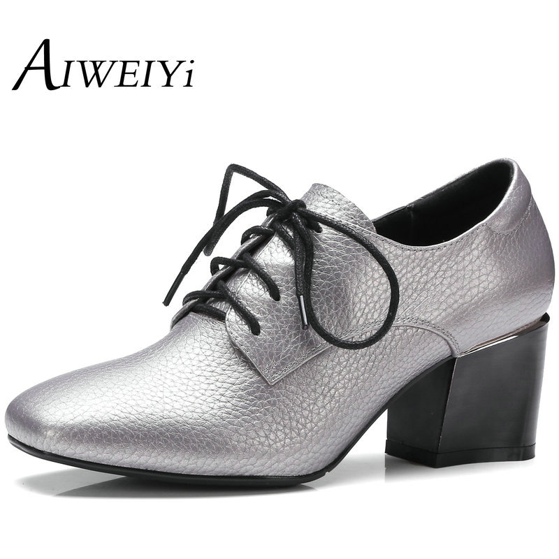 AIWEIYi Womens Pumps New 2017 Ladies Spring Shoes High Heels Thick Heel Platform Shoes Green Silver High-Heeled Shoes<br><br>Aliexpress