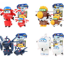 New Super Wings Action Figure Toys Mini Airplane Robot Superwings Transformation Anime Cartoon Toys For Children Boys Gift(China)