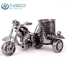 NEO Metal Motorcycle Model Pen Container Retro Motorbike Pencil Cup Antique Motor Bicycle Pen Holder Home Office Desktop Decor
